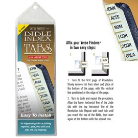 Bible Indexing Tabs - Large Print Gold, Horizontal