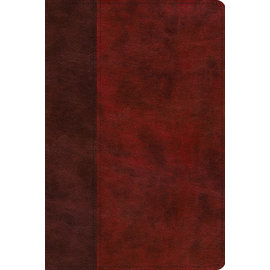 ESV Story of Redemption Bible, Burgundy/Cherry Timeless Design TruTone