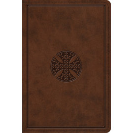 ESV Personal Size Study Bible, Brown Mosaic Cross Design TruTone