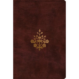ESV Personal Size Study Bible, Burgundy Branch Design TruTone