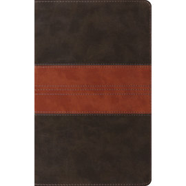ESV Thinline Reference Bible, Forest/Tan Trail Design TruTone