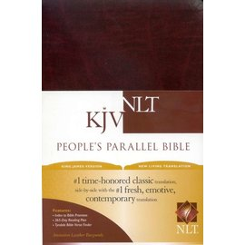 KJV/NLT People's Parallel Bible, Burgundy Imitation Leather