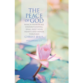 Bulletins: The Peace of God (Philippians 4:6 KJV)