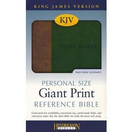 KJV Giant Print Reference Bible, Brown/Green Imitation Leather