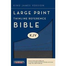 KJV Large Print Thinline Reference Bible, Slate/Blue