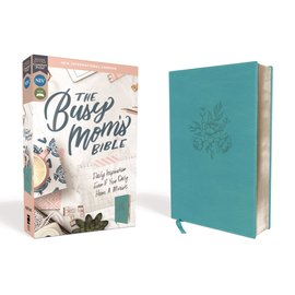 NIV The Busy Mom's Bible, Teal Leathersoft