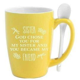 Mug - Sister, God Chose You, Spoon