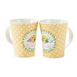 Mug - Sister, Yellow with Spots