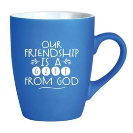 Mug - Our Friendship is a Gift from God, Blue