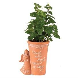 Flower Pot - Friends are like Angels