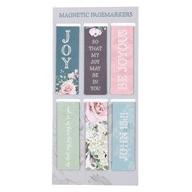 Magnetic Bookmarks -  Joy