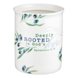 Utensil Holder - Deeply Rooted in God's Love