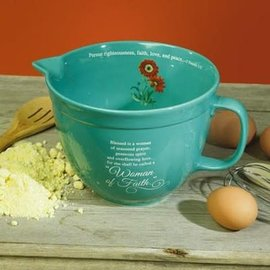 Mixing Bowl - Woman of Faith, Teal