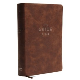 NKJV Abide Study Bible, Brown Leathersoft