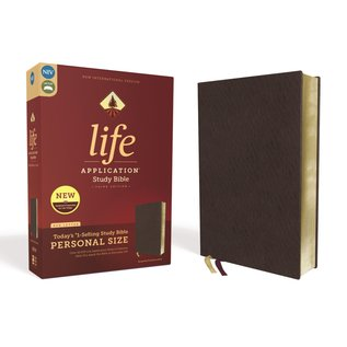 NIV Personal Size Life Application Study Bible 3, Burgundy Bonded Leather