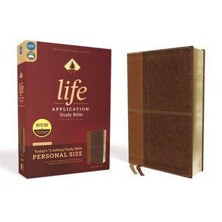 NIV Personal Size Life Application Study Bible 3, Brown Leathersoft