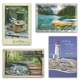 Boxed Cards - Birthday, His Gifts