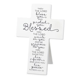 Tabletop Cross - Blessed