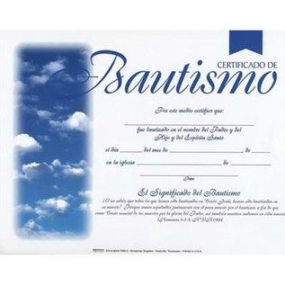 Baptism Certificate, 6 Spanish