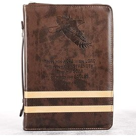 Bible Cover - Isaiah 40:31 Two-Tone Stripe