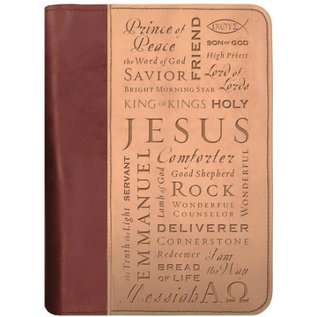 Bible Cover - Names of Jesus, DuoTone