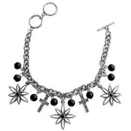 Bracelet - Faith Gear, Flower Cross (Silver)