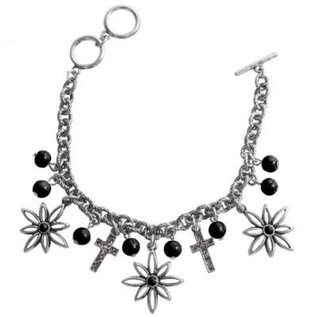 Bracelet - Faith Gear, Flower Cross (Silver)