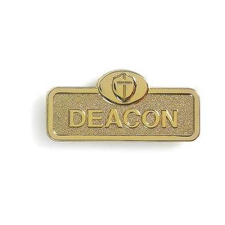 Brass Deacon Magnetic Badge