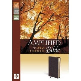 Amplified Large Print Reference Bible, Burgundy Bonded Leather