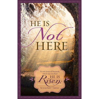 Bulletin - He Is Not Here