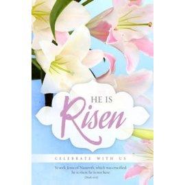 Bulletin - He is Risen, Pink/Blue
