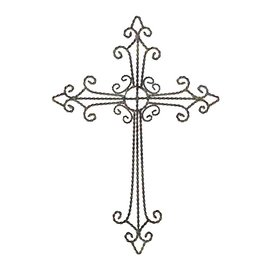 Wall Cross - Antique, Metal