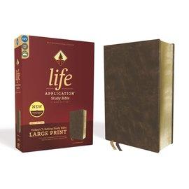 NIV Large Print Life Application Study Bible 3, Brown Bonded Leather