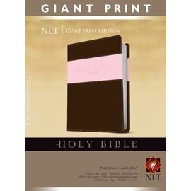 NLT Giant Print Bible, Pink/Brown LeatherLike