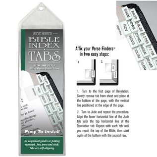 Bible Indexing Tabs - Silver