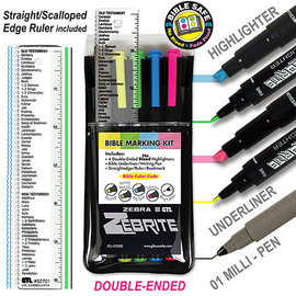 Highlighter - Bible Marking Kit w/Ruler