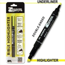 Highlighter - Yellow (Double-Ended)