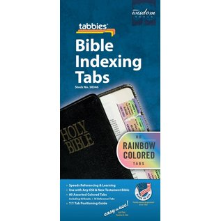 Bible Indexing Tabs - Rainbow