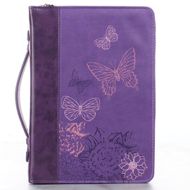 Bible Cover - Butterflies, Purple