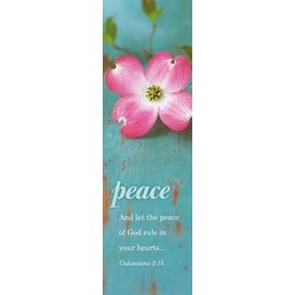 Bookmarks: Peace (Colossians 3:15 KJV) (Pack Of 25)