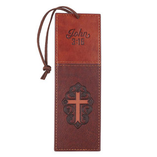 Bookmark - John 3:16, Faux Leather