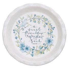 Pie Plate - A Sweet Friendship