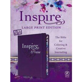 NLT Large Print Inspire Praise Bible, Hardcover