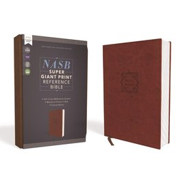NASB Super Giant Print Reference Bible, Brown Leathersoft