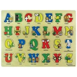 Bible ABCs Puzzle, Wooden