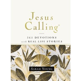 Jesus Calling: 365 Devotions with Real-Life Stories (Sarah Young), White Hardcover