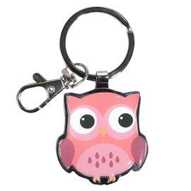 Pink Owl Keyring