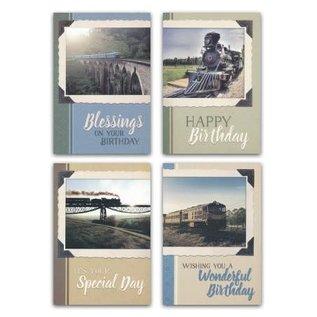 Boxed Cards - Birthday, Locomotives