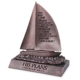 Sculpture - His Plans, Sailboat