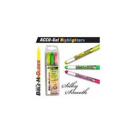 Highlighters - ACCU-Gel 3 pack, Yellow/Green/Pink